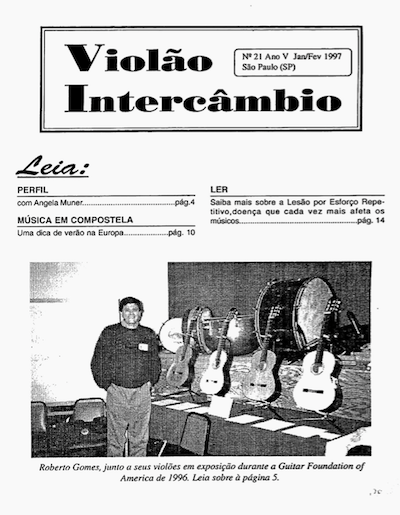 Revista Violão Intercâmbio - n 21 ano V - jan/fev 1997