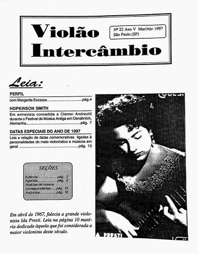Revista Violão Intercâmbio - n 22 ano V - mar/abr 1997