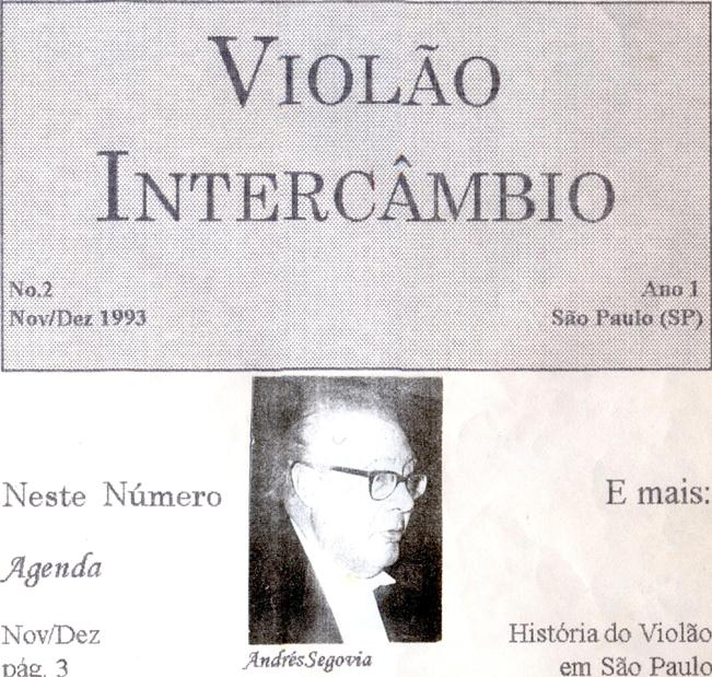 Revista Violão Intercâmbio - n 2 ano 1 - nov/dez 1993