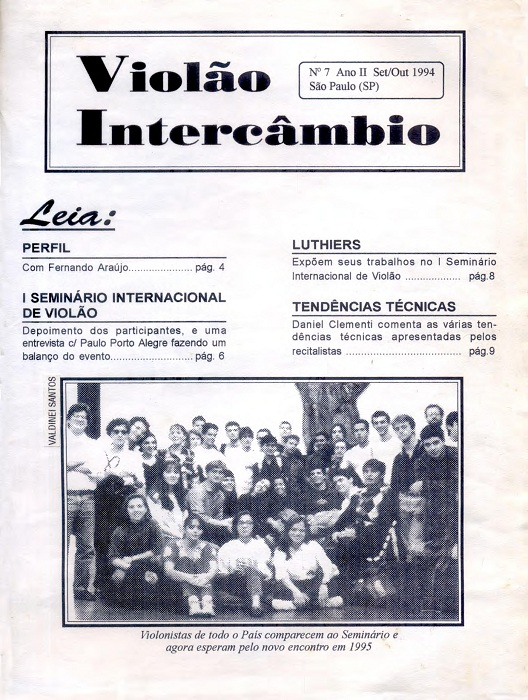 Revista Violão Intercâmbio - n 7 ano II - set/out 1994