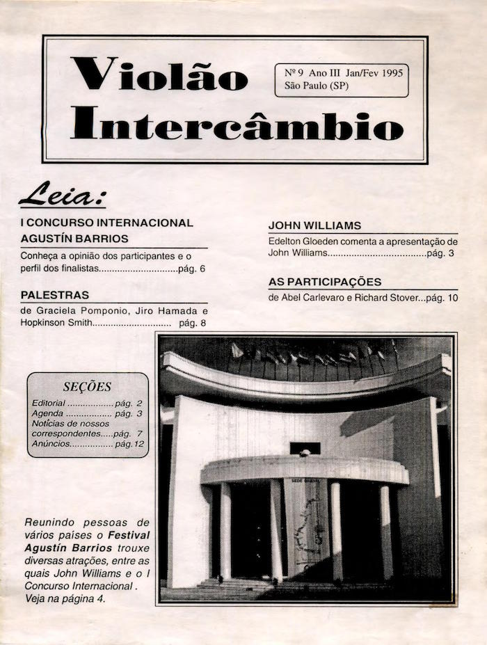 Revista Violão Intercâmbio - n 9 ano III - jan/fev 1995