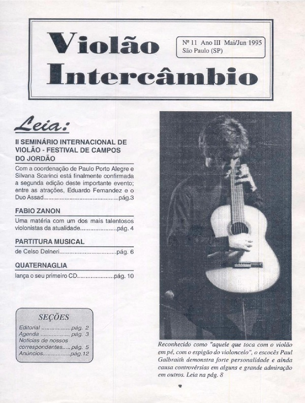 Revista Violão Intercâmbio - n 11 ano III - mai/jun 1995