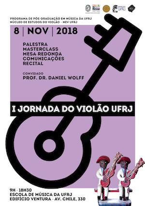Escola de Música da UFRJ realiza 1ª Jornada do Violão nesta quinta (8/11)