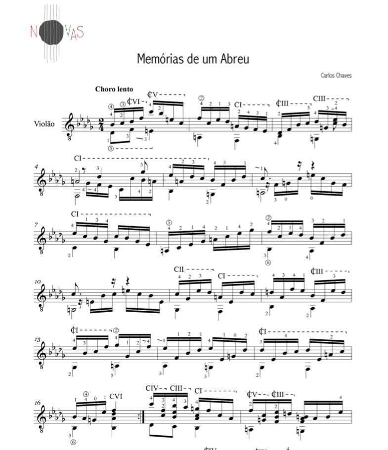 Memórias de um Abreu (Carlos Chaves) - Violão Solo
