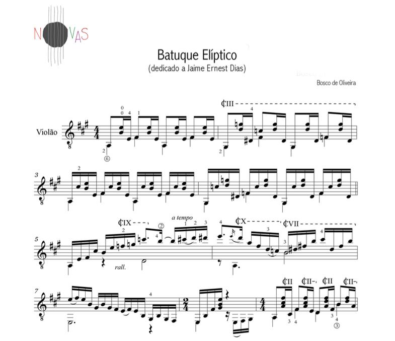 Batuque Elíptico (Bosco de Oliveira) - Violão Solo