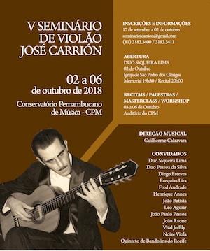 Seminário José Carrión tem programação até sábado (06) no Recife