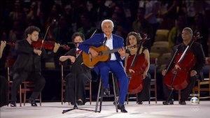 Violão brasileiro dá seu recado na cerimônia de abertura da Olimpíada 2016