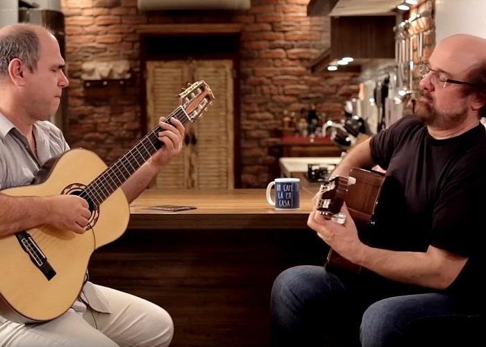 Capa do vídeo Conrado Paulino e Nelson Faria - Um café lá em casa