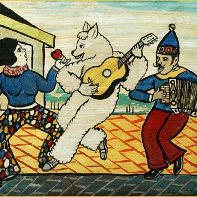Acervo mostra o violão no frevo neste carnaval- pintura Bajado