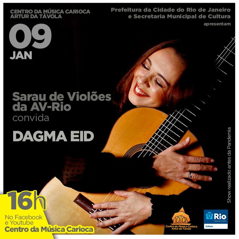 Dagma Eid faz recital de vihuela, violão e guitarra barroca e romântica neste sábado - banner