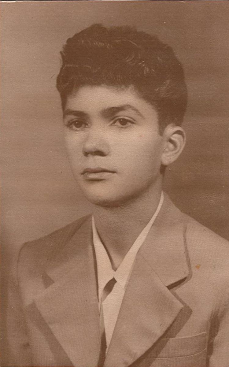 Geraldo Vespar tem obra inédita lançada em disco de Paulo Martelli - Geraldo Vespar aos 15 anos, arquivo particular