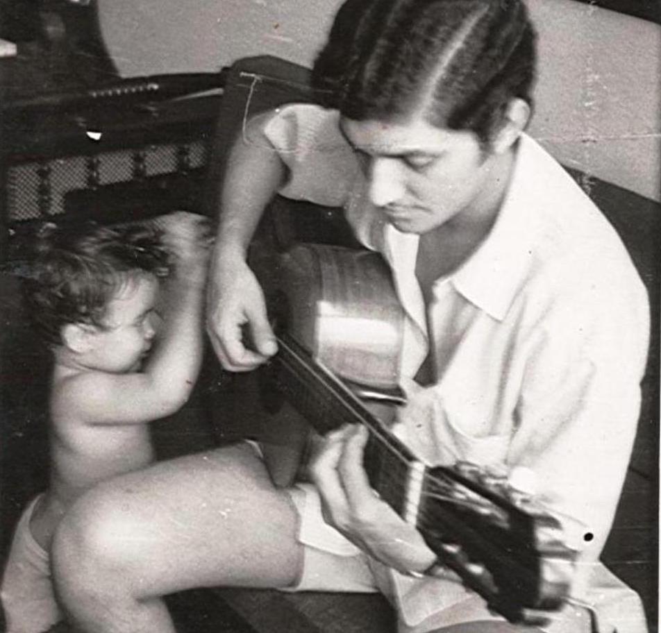 Geraldo Vespar tem obra inédita lançada em disco de Paulo Martelli - Geraldo Vespar e Karla Patricia, 1971, arquivo particular