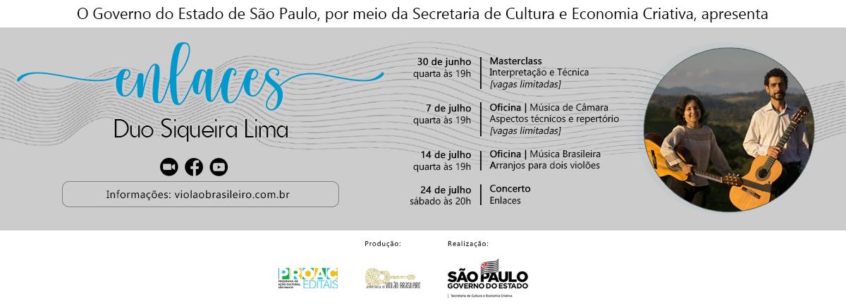 Duo Siqueira Lima comemora 18 anos de carreira com projeto Enlaces - banner