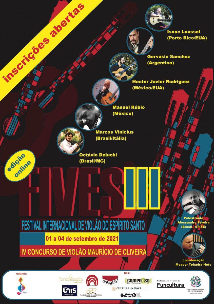 Festival e concurso de violão do Espírito Santo estão com inscrições abertas