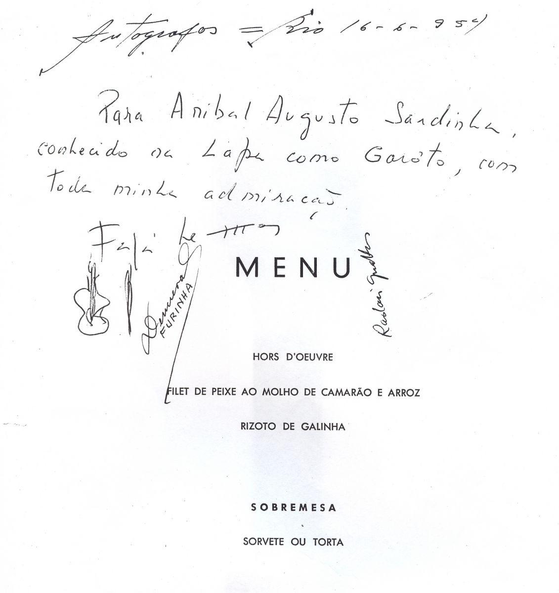 Documentos raros sobre Garoto e história da música Chora Fafá são revelados pelo Acervo do Violão - cardápio de restaurante