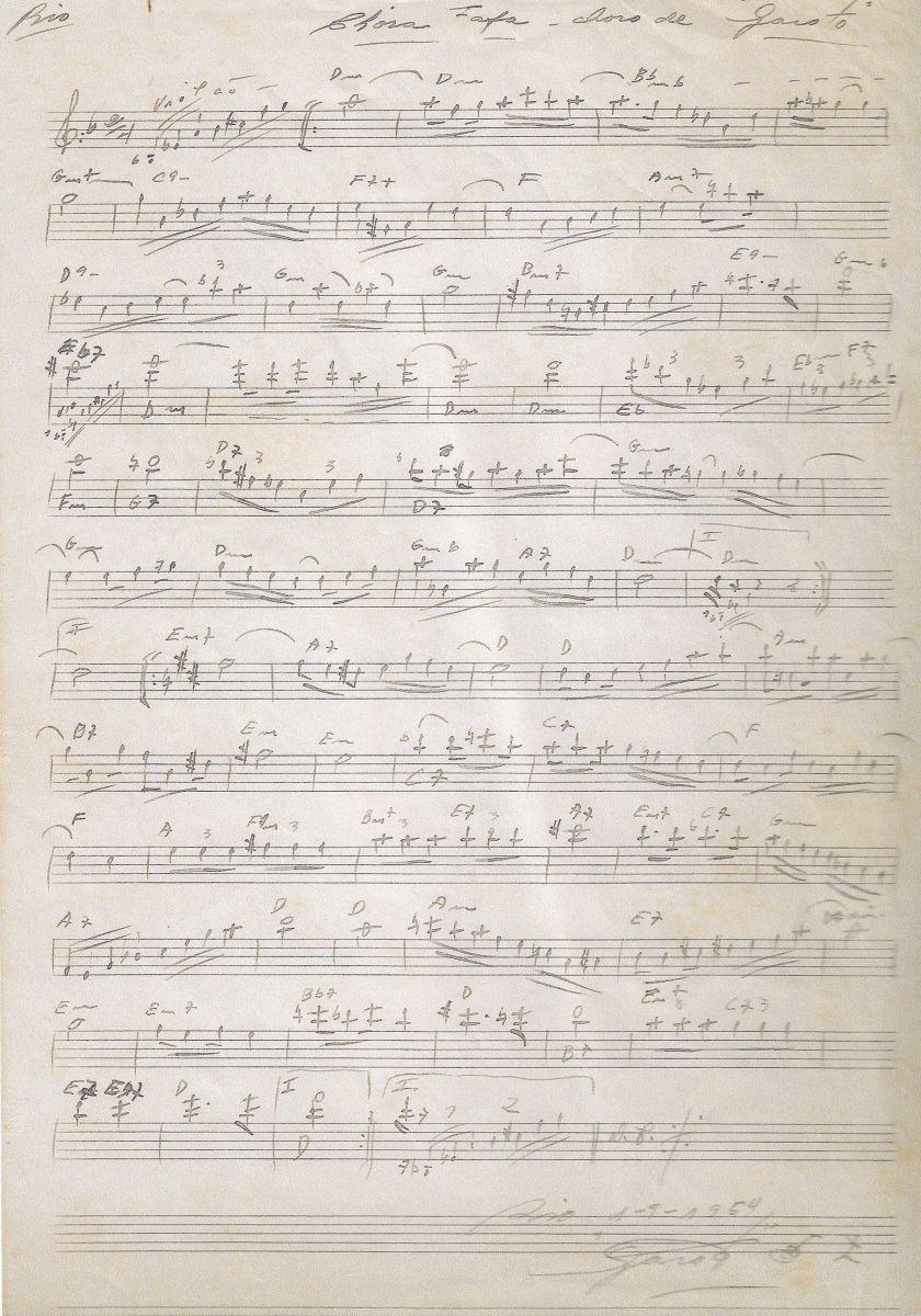 Documentos raros sobre Garoto e história da música Chora Fafá são revelados pelo Acervo do Violão - Manuscrito Chora Fafá