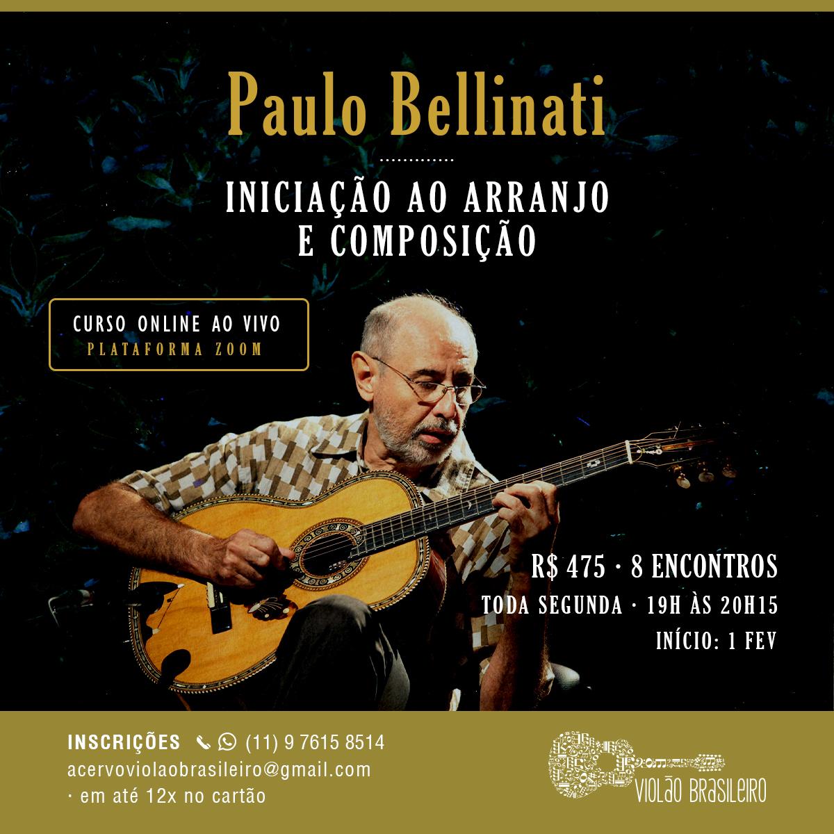 Aulão ao vivo de Paulo Bellinati e Francis Hime inaugura novo ciclo do Acervo - banner Paulo Bellinati