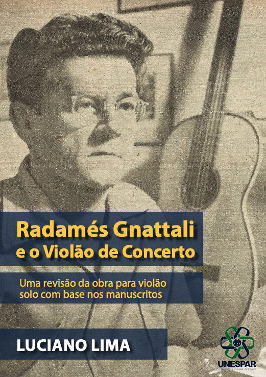 Obra inédita de Radamés Gnattali é descoberta e lançada por violonista - capa livro Radamés Gnattali e o violão de concerto