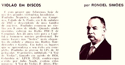 Violão e Mestres: história e sonho de uma revista - Ronoel Simões