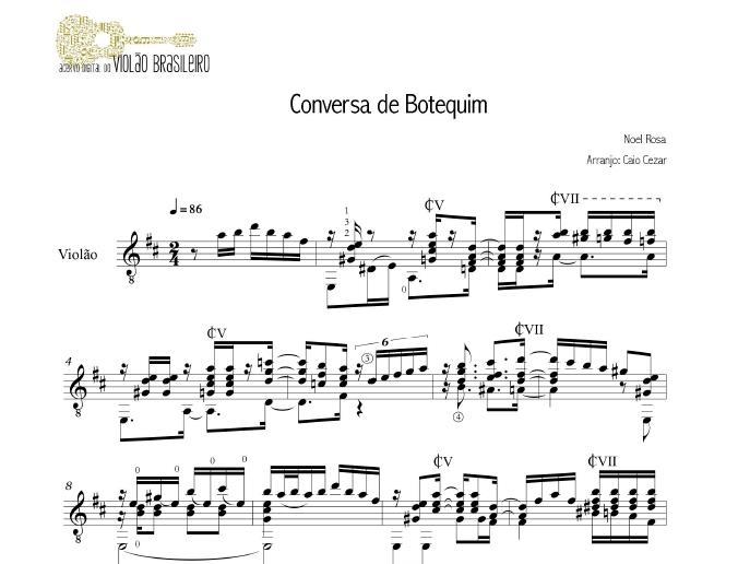 Conversa de Botequim (Noel Rosa) - violão solo