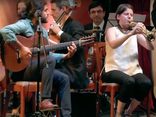 Capa do vídeo Trio In Uno e Orquestra da Ulbra - 7 Anéis (Egberto Gismonti)